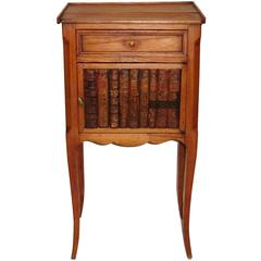 Antique French Nightstand Faux Books