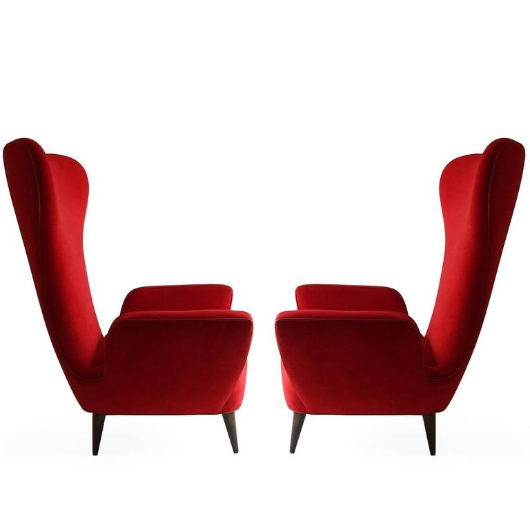 Pair of Rare Low-Slung Modern Italian Sculptural Chairs