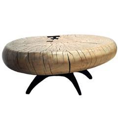 Mid-Century Style Cottonwood Table by Artist Daniel Pollock