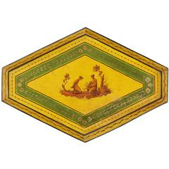 French Early 19th Century Neoclasscial Tole Peinte Tray