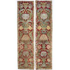 Pair of 17th Century Italian Applique Wall Hangings