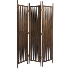 Midcentury Walnut Screen