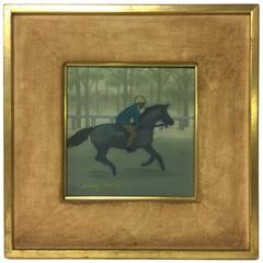 Mid-Century, circa 1950s, Oil on Canvas Horse Painting by NYC Artist Mary Ronin