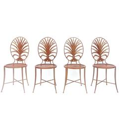 Regency gilt metal Coco Chanel dining Chairs