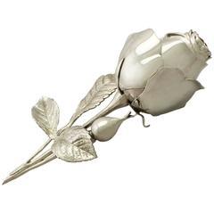 Antique Sterling Silver Flower Vinaigrette/ Pomander, Victorian