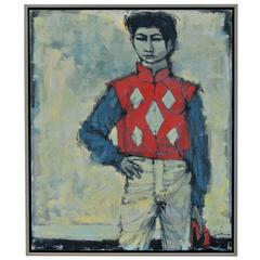 Painting of a Proud Jockey by Larry Cabaniss