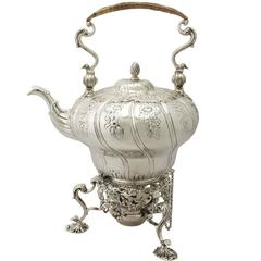 Antique Sterling Silver Spirit Kettle by William Grundy, George III