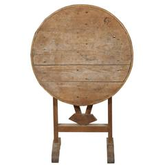 Mini French Rustic Wine Tasting Table or Side Table with Tilt-Top, 19th Century