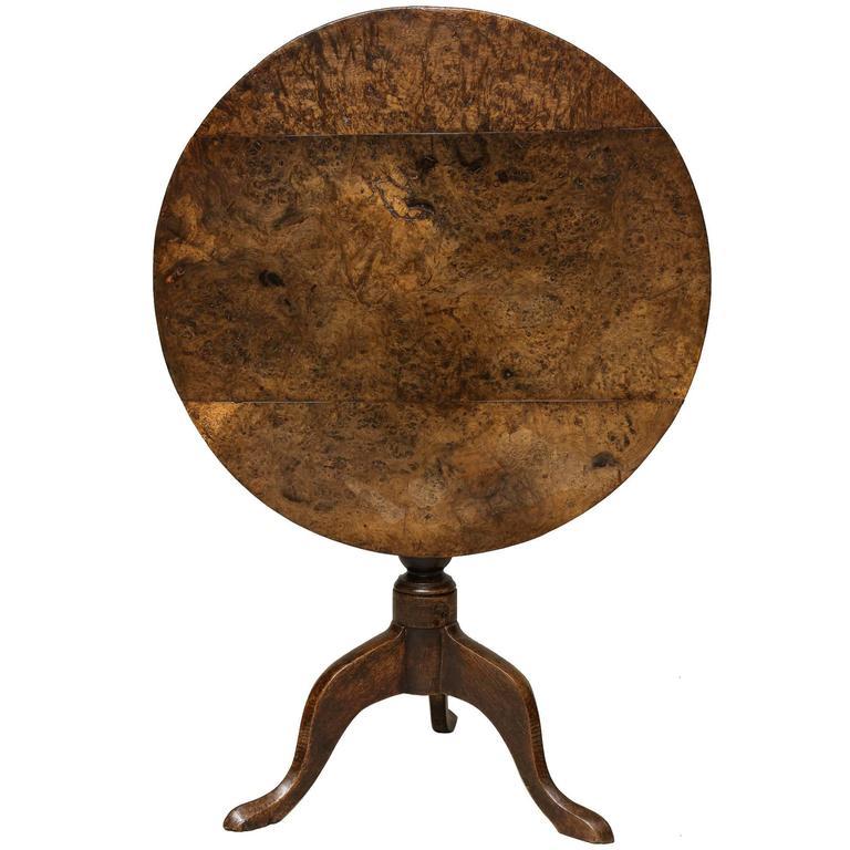 George II Burr Oak Tripod Table