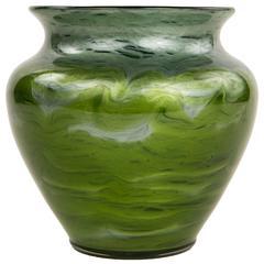 Austrian Art Nouveau Glass Vase by Loetz