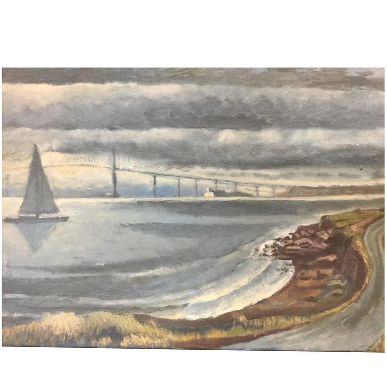 Painting Newport Rhode Island Oil on Canvas