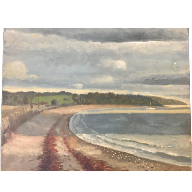 Painting Newport Rhode Island Third Beach November Sky 1