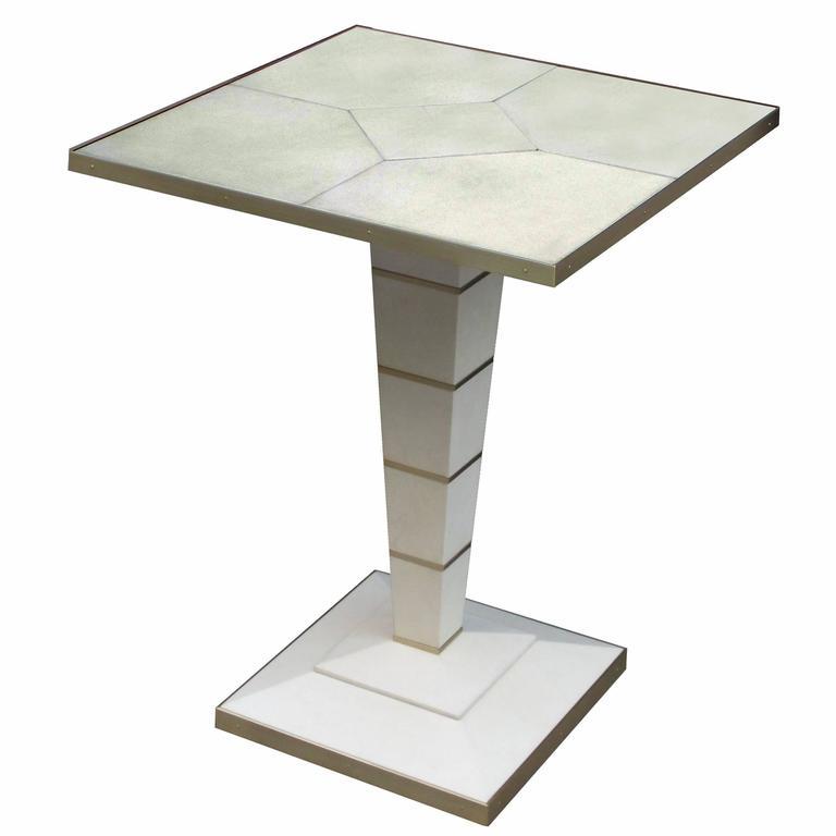 Modernist Parchment Side Table