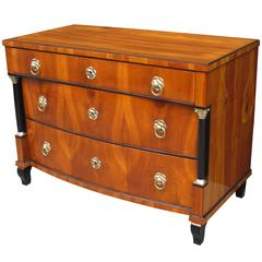 Fine Biedermeier Three-Drawer Chest