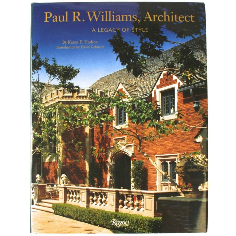 """Paul R Williams, Architect"" First Edition Book For Sale"