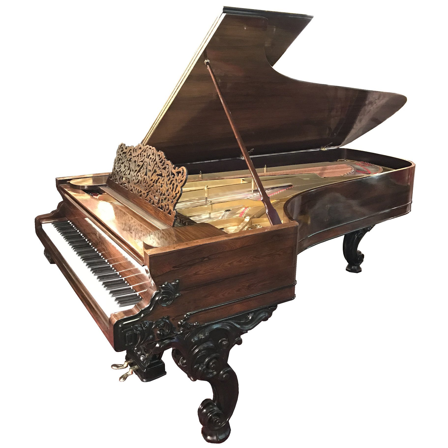 Steinway Concert Grand Piano with Rosewood and Ebonized Case