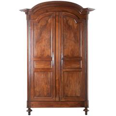 French Early 19th Century Grand Walnut Armoire