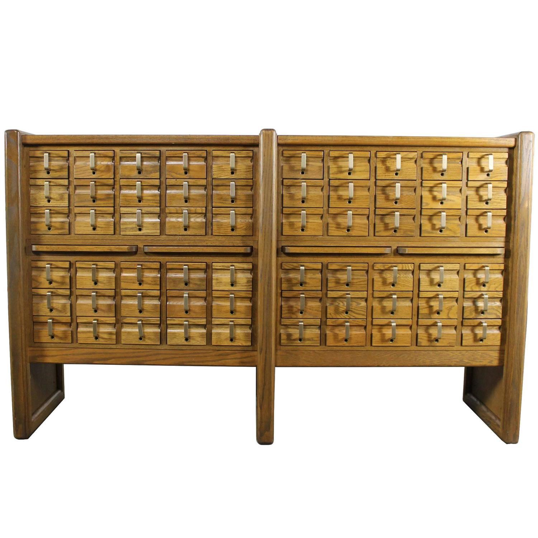 antique library card catalog cabinet antique furniture. Black Bedroom Furniture Sets. Home Design Ideas