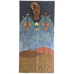 Sacred Landscape on Reclaimed Tin Panel