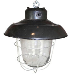 Industrial Ceiling Lights or Lanterns, circa 1930s