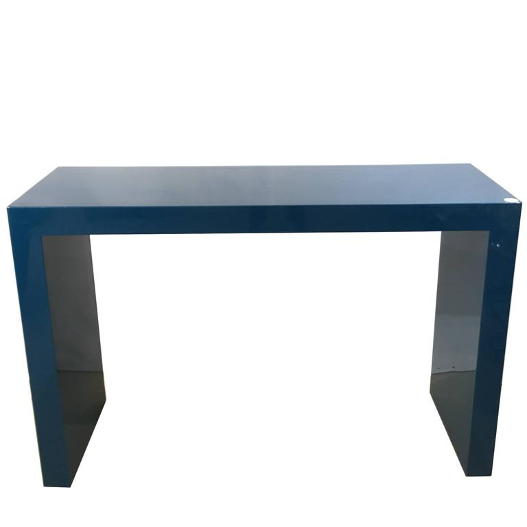 A Blue Lacquered Console Table, Circa 1970