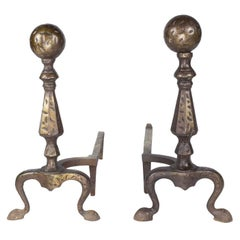 1920s Pair of American Andirons