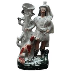 Late 18th Century, Staffordshire Figure with Dog