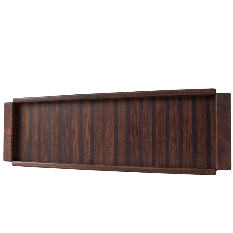 Single Small Rosewood Tray by Don Shoemaker for Señal
