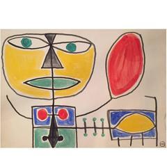Albert Chubac, Gouache, Signed, circa 1960, France