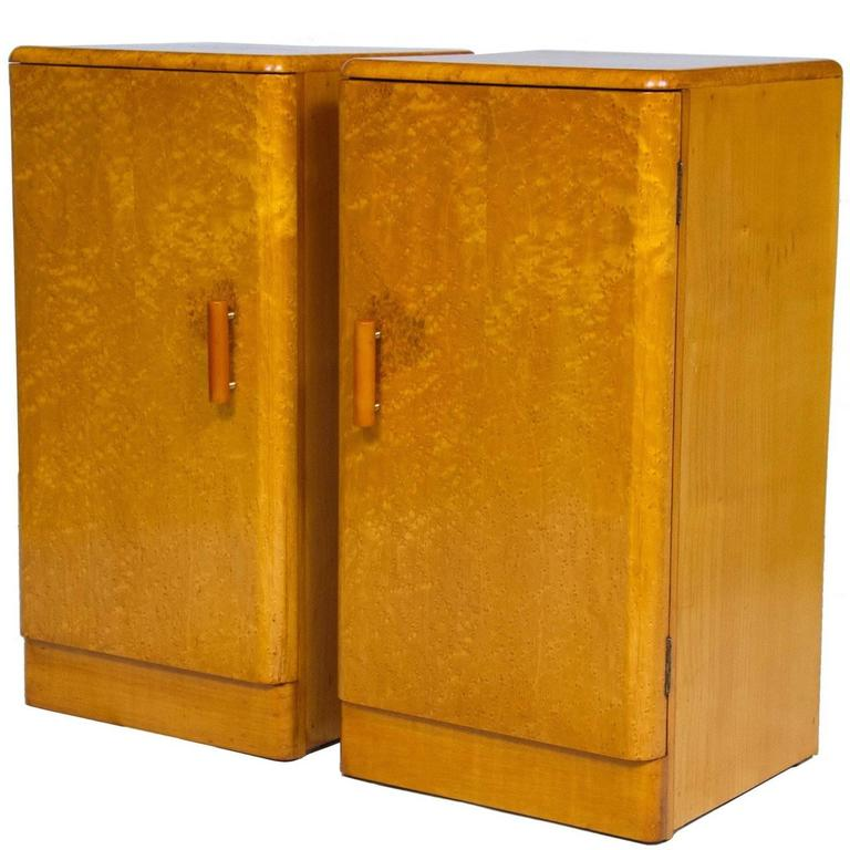 Pair of art deco bedside cabinets nightstands is no longer available