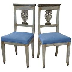 Napoleonic Period Directoire or Empire Painted Side Chairs, circa 1790