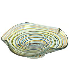 Large Colored Glass Centerpiece in the Manner of Murano Venini