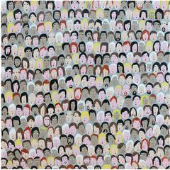 '382 Followers' Portrait Painting by Alan Fears Folk Art Pop Art