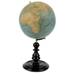 Antique Terrestrial Globe Edited in the Second Half of the 19th Century