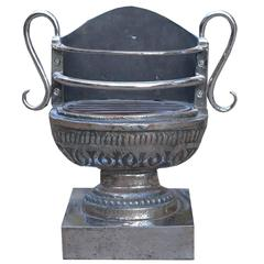 Mid-20th Century English Cast Iron Urn Grate