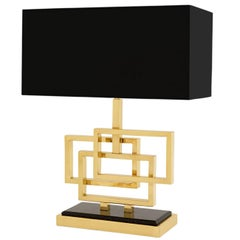 Frames Table Lamp Brass and Granite