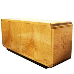 Scene Two Burl Olive Ash and Ebony Sideboard or Credenza by Henredon