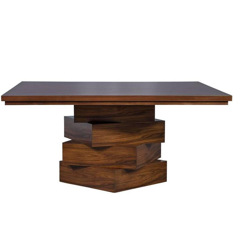 Modern square dining table for sale at 1stdibs for Modern dining tables sale