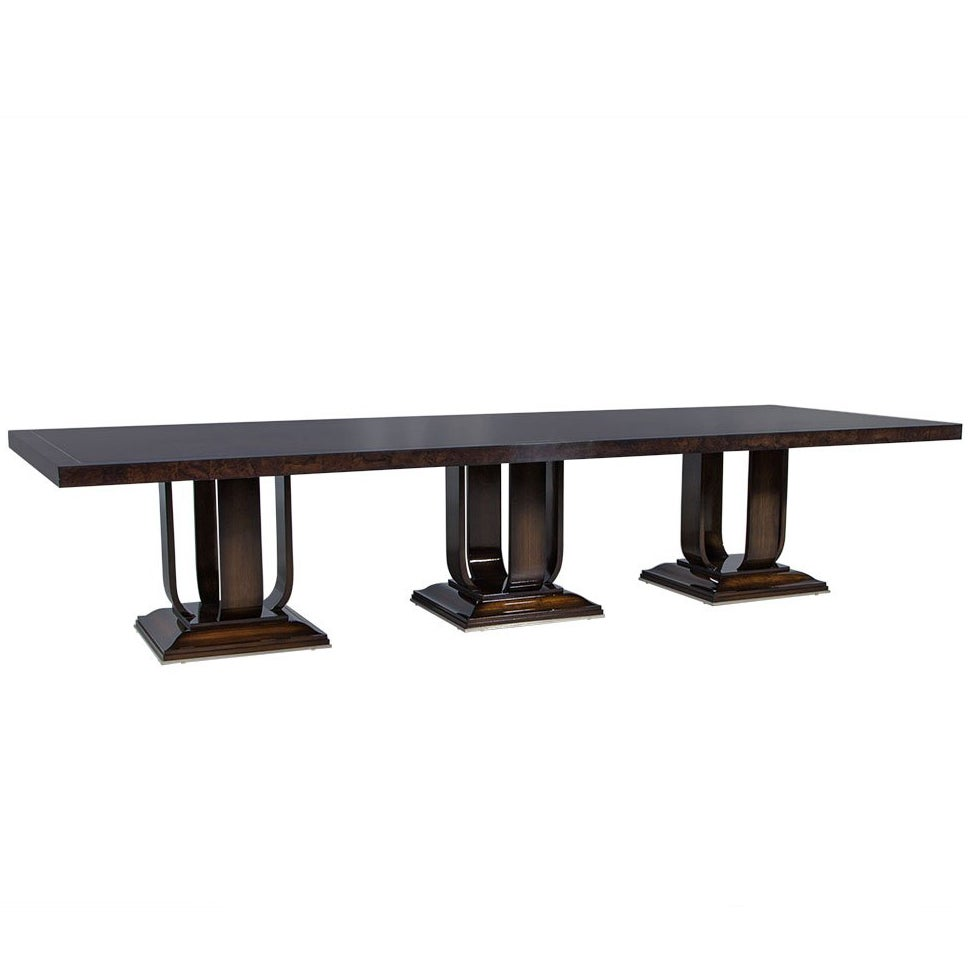 Carrocel Custom Impero Art Deco Style Dining Table