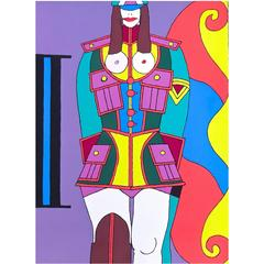 Large Vibrant 1980s, Richard Lindner Silkscreen