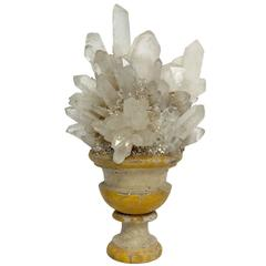 Wunderkammer Naturalia Specimen, a Rock Crystal Druze