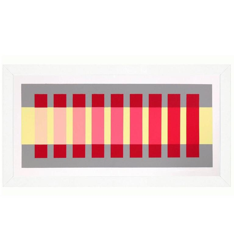 Josef Albers Abstract Lithograph from Interaction of Color