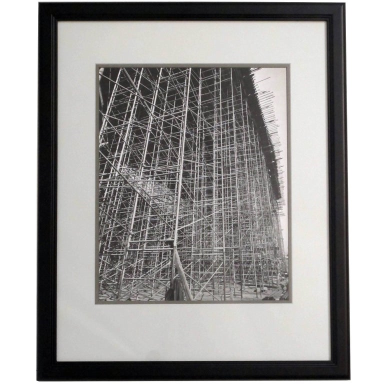 Architectural Industrial Black and White Photograph For Sale
