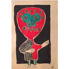 Albert Chubac, Gouache and Oil, Signed, circa 1960, France