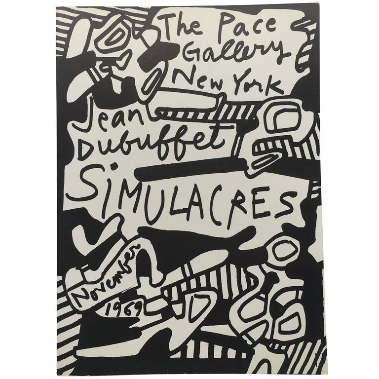 Jean Dubuffet – Simulacres, 1969 For Sale