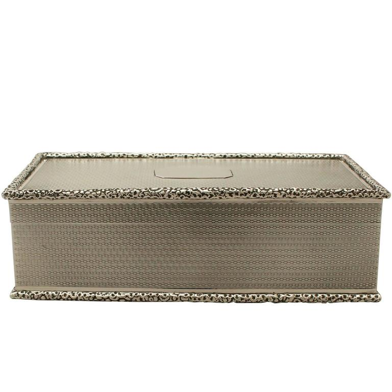 Antique Sterling Silver Cigarette Box For Sale