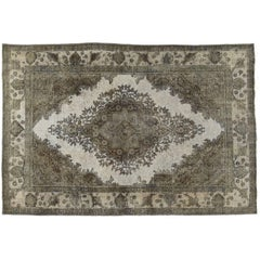 Vintage Grey Taupe Overdyed Rug