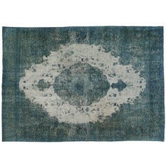 Distressed Turquoise Rug