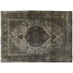 Distressed Grey Overdyed Rug