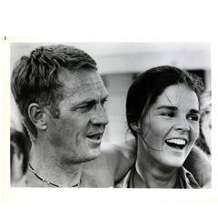 Vintage Steve McQueen, Ali Macgraw Photo, The Getaway